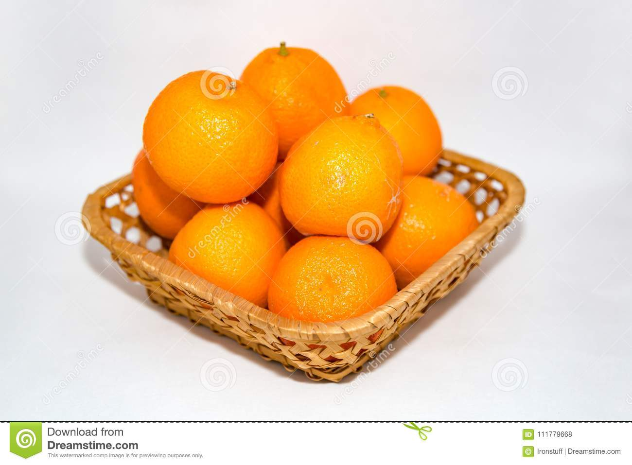 Orange tangerines in a basket