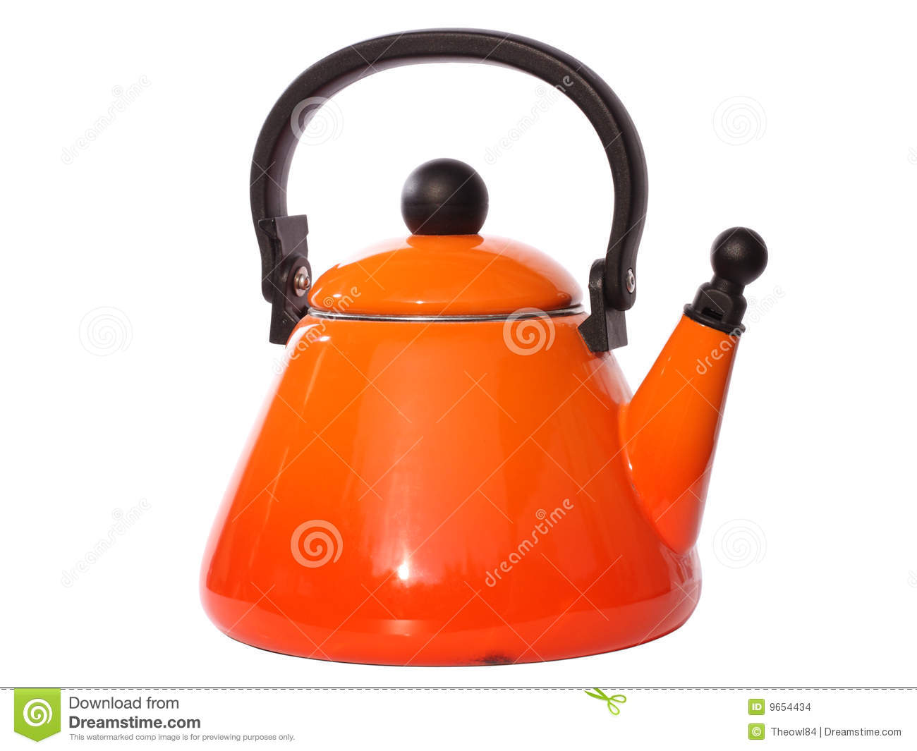 orange tea kettle stock images  image  - orange tea kettle