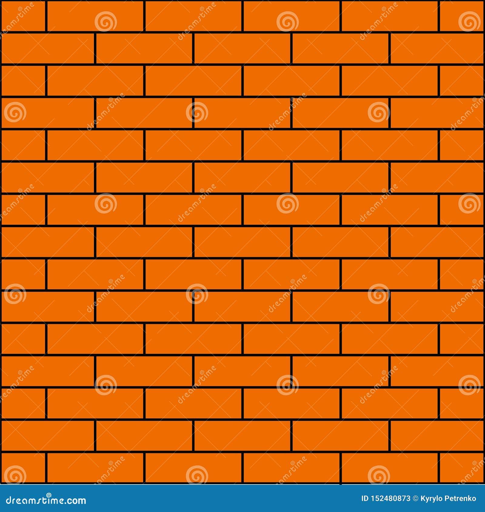 Orange tegelstenvägg för bakgrundsbaner