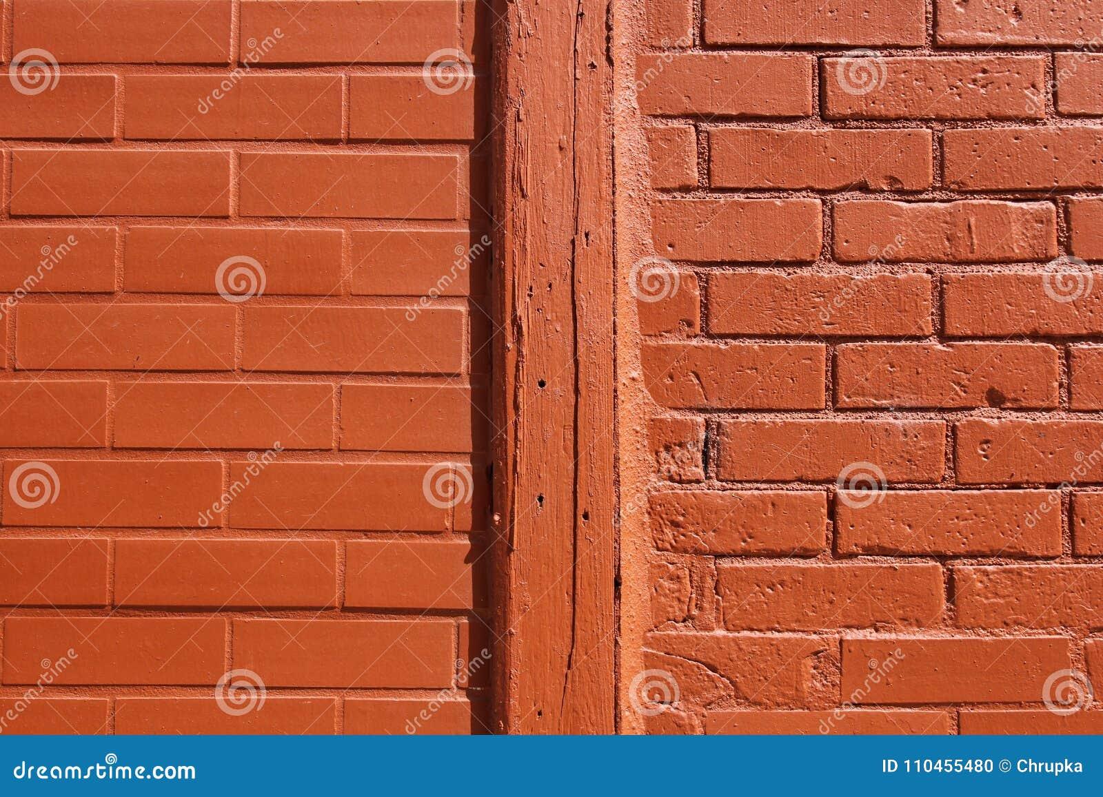 Orange texturvägg för tegelsten