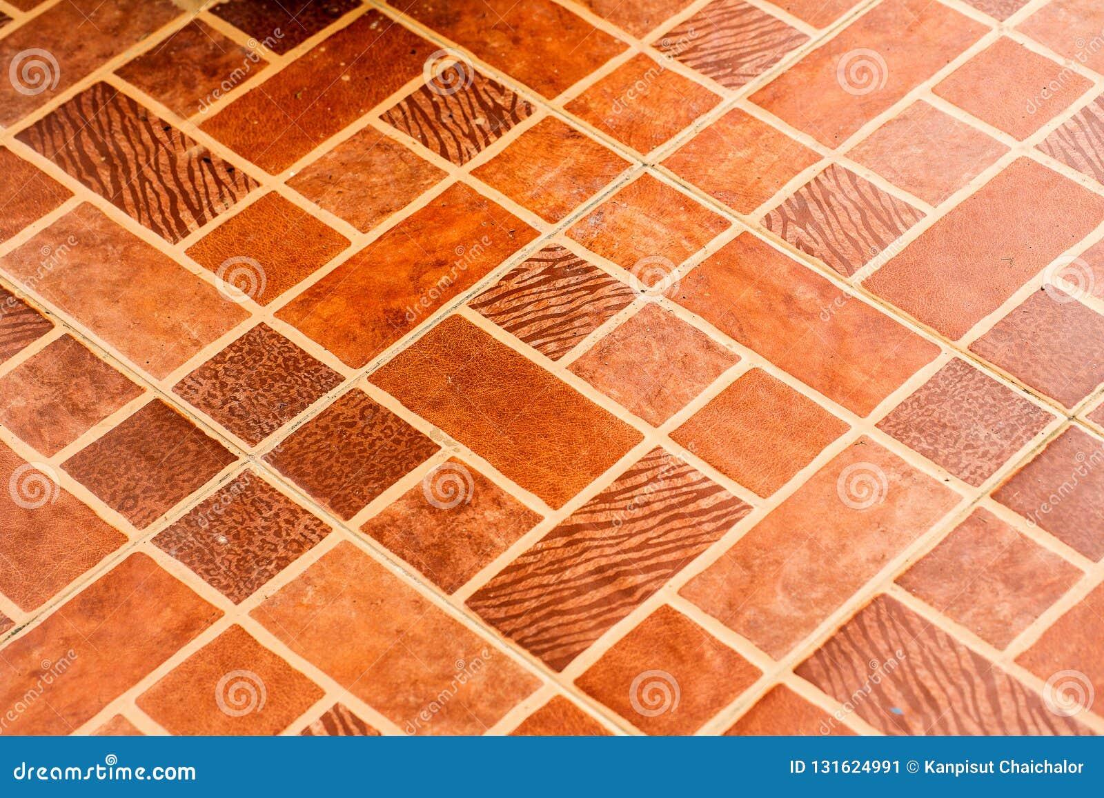 Orange Tiles Floor Background Orange Tile Architecture