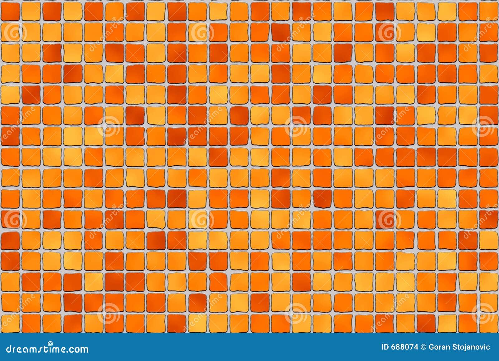 Orange Tiles Mosaic Stock Images Image 688074