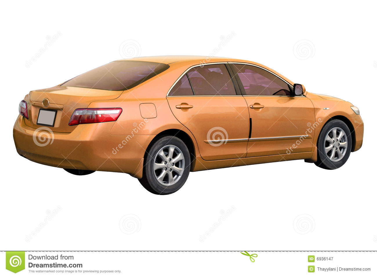 orange toyota camry 2008 stock image image of colour 6936147. Black Bedroom Furniture Sets. Home Design Ideas