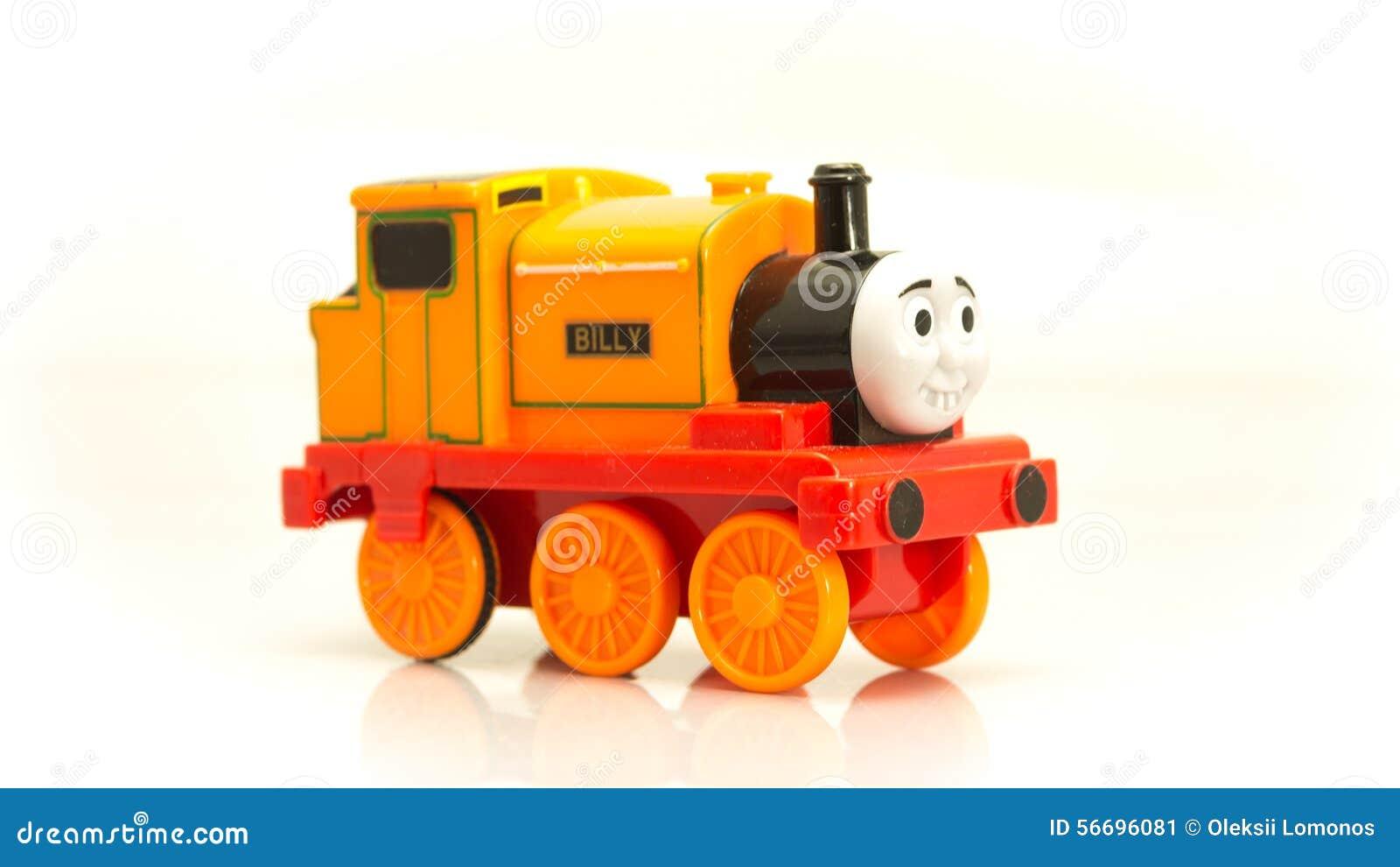 orange train billy cartoon of thomas and his friends stock