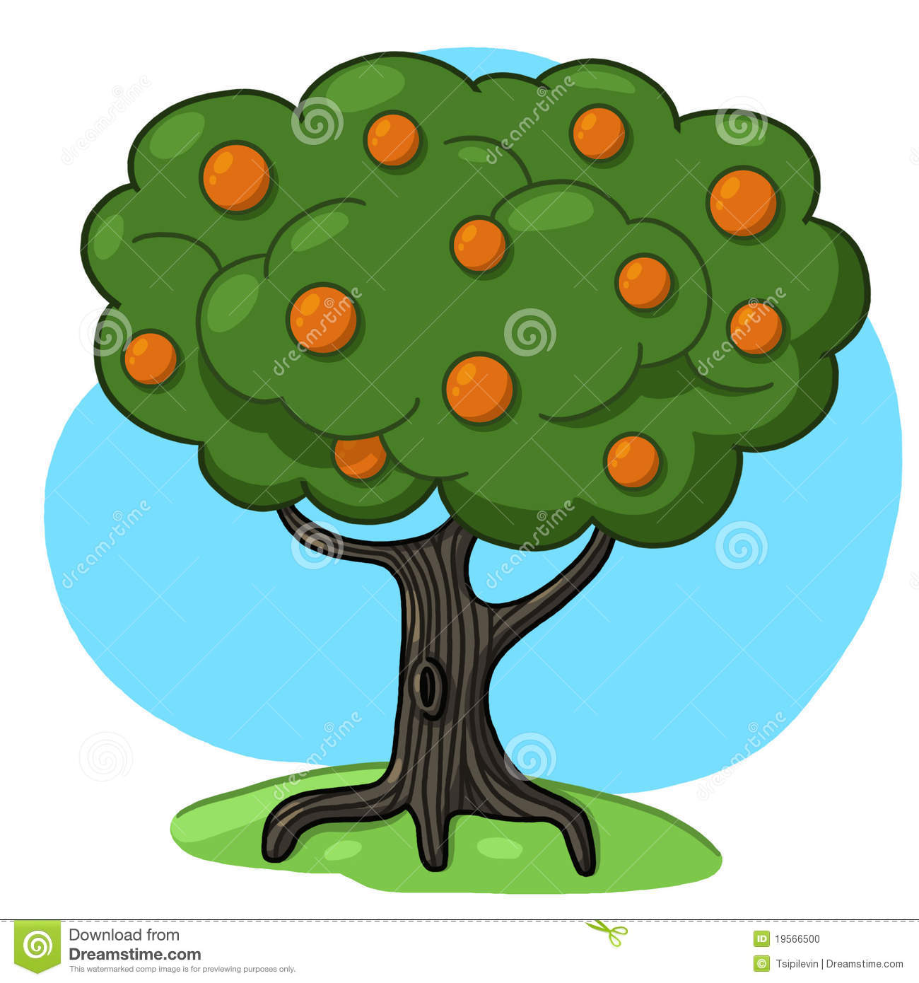 Orange Tree Illustration Stock Photo - Image: 19566500