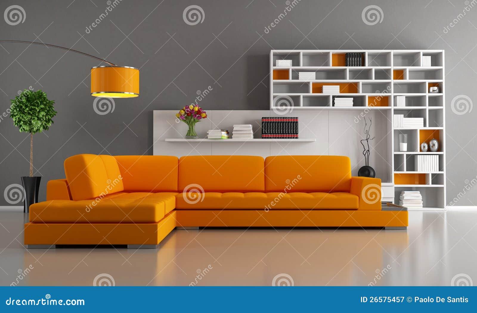 wohnzimmer orange braun:Orange and Grey Living Room Furniture