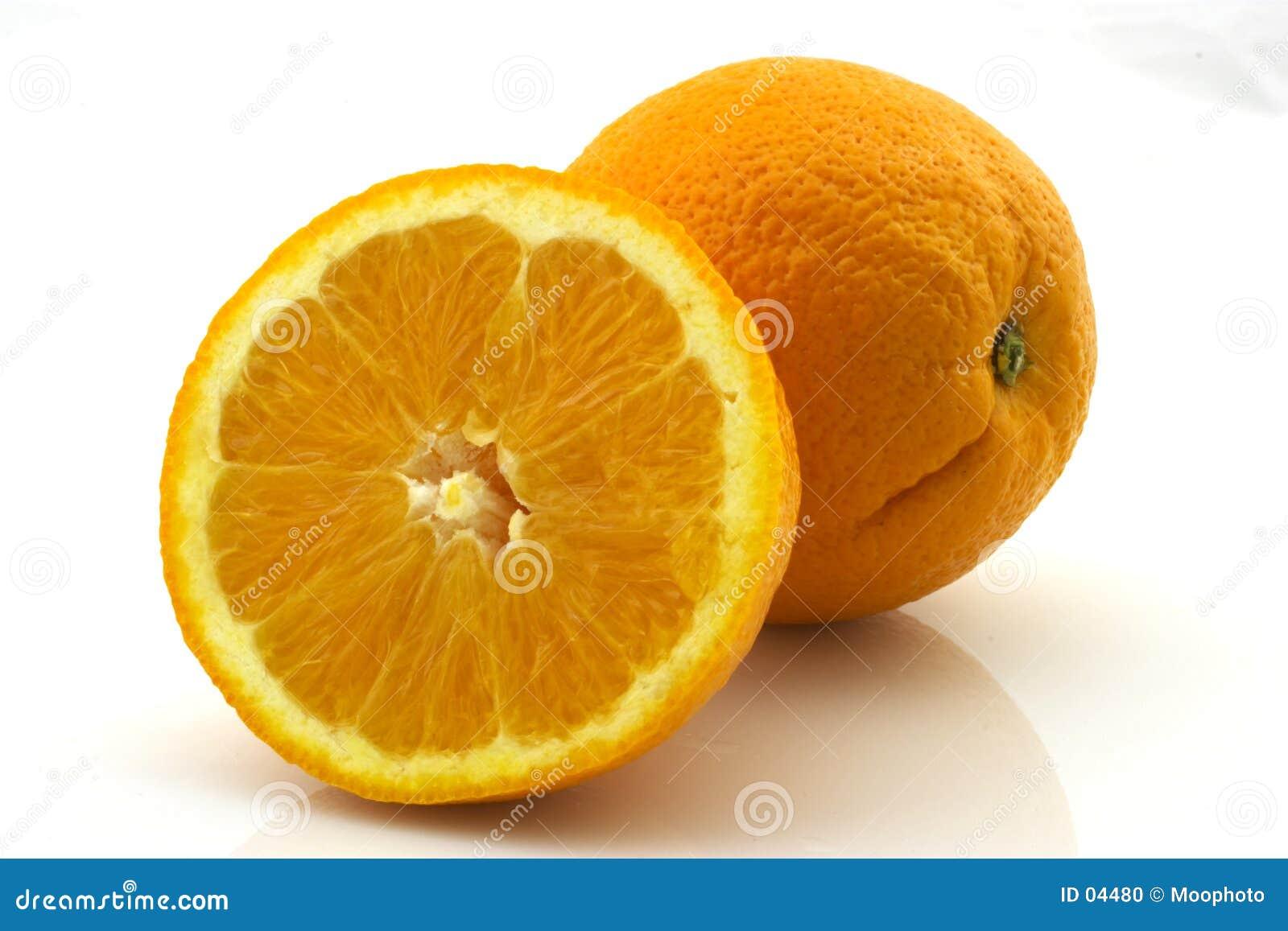 Orange und eine Hälfte