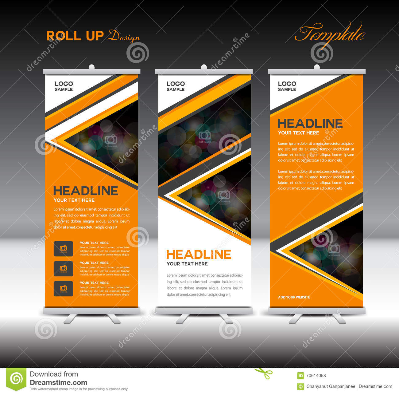orange up banner template stand template advertisement vector la orange up banner template stand template advertisement vector la