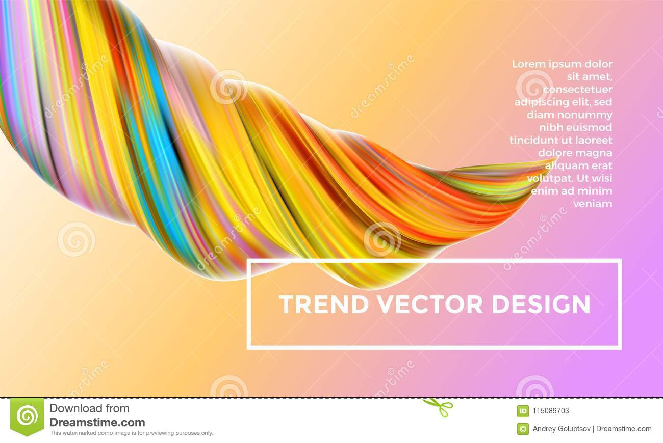 Orange Vector Digital Painting Abstract Background Stock