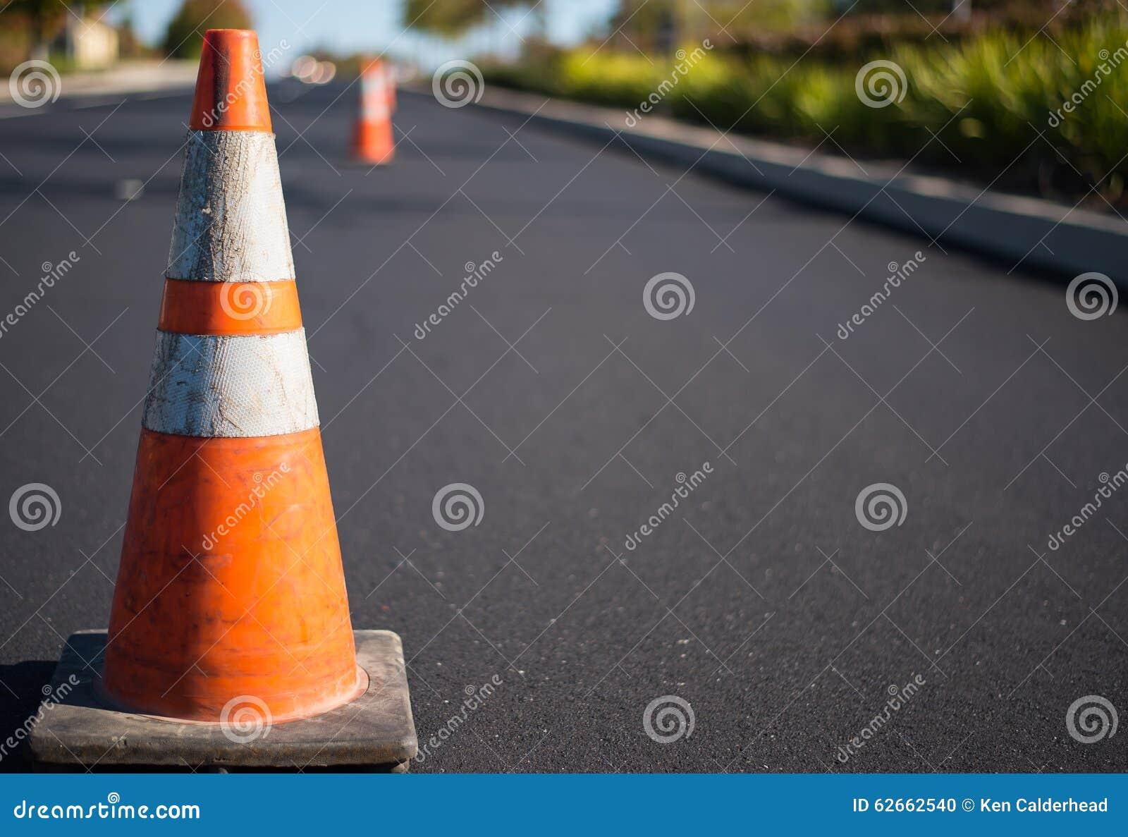 Orange Verkehrskegel