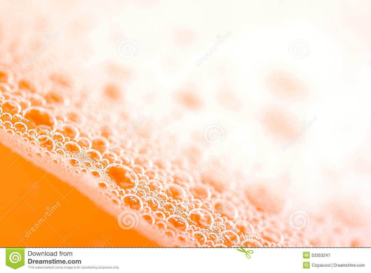Orange Water Drops Close Up Royalty Free Stock Photography