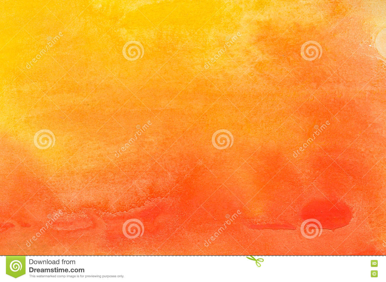 Orange watercolor painted background texture