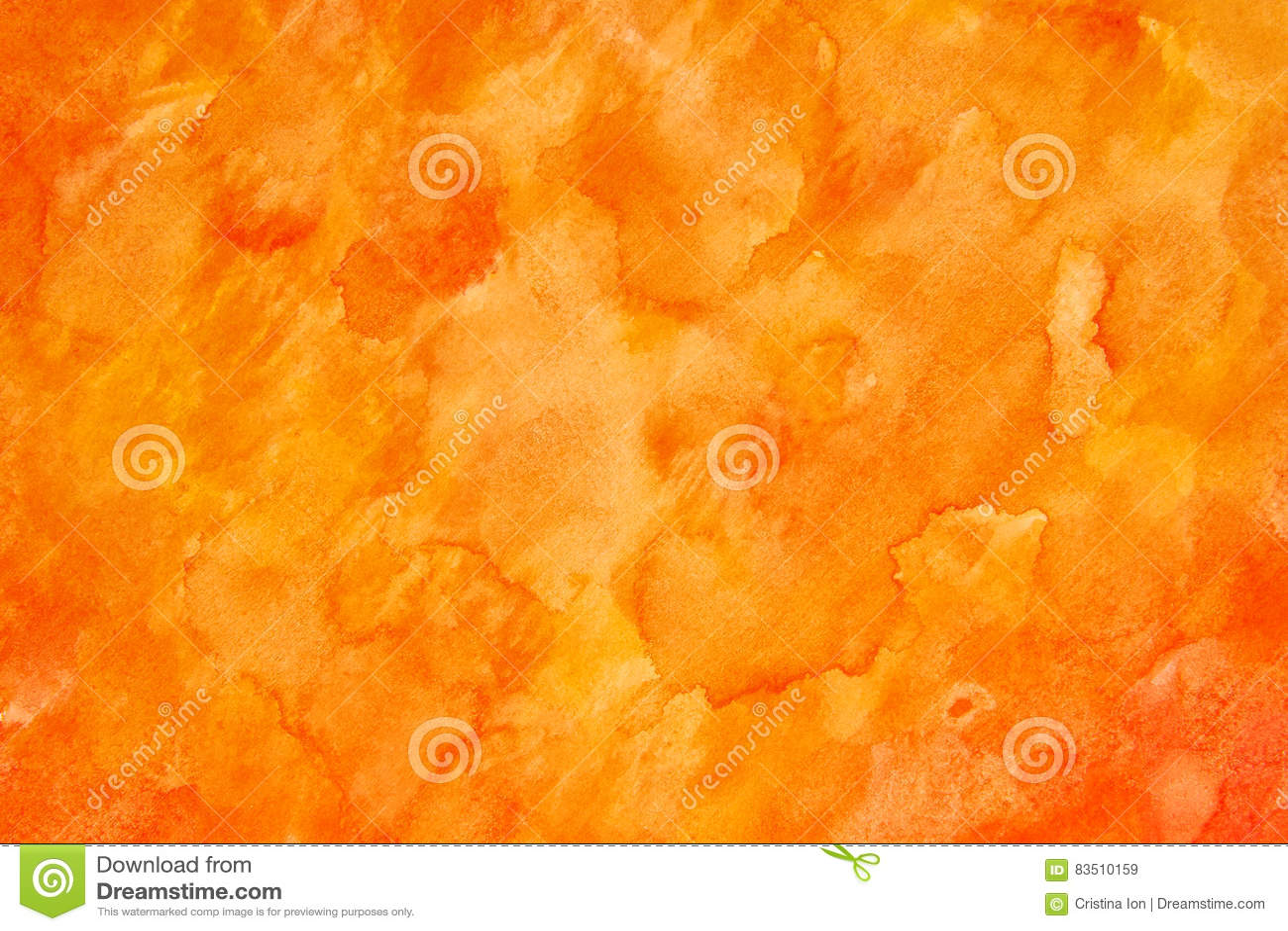 Orange watercolour abstract