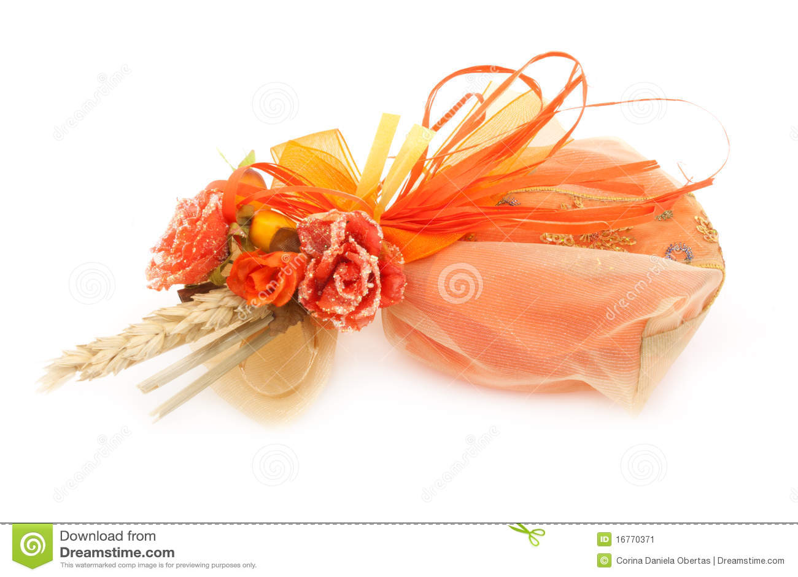 Orange Wedding Favor