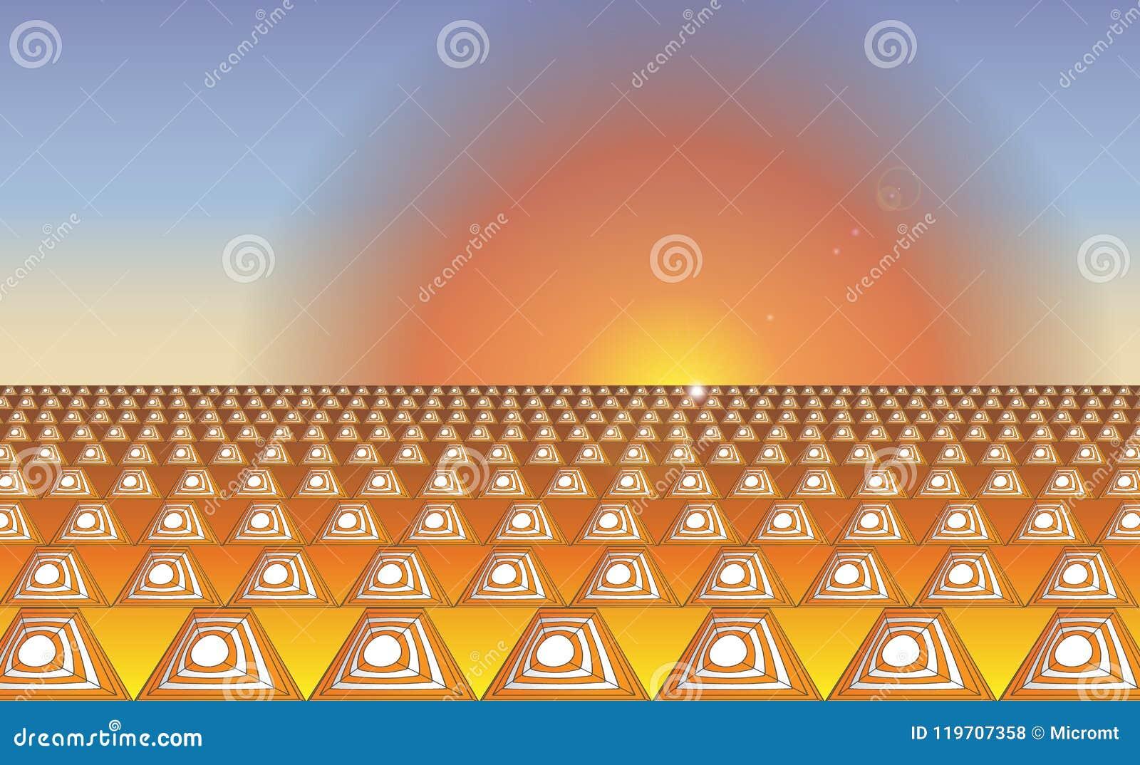 Orange weiße Sicherheitsleitkegel des industriellen abstrakten Hintergrundes Sonnenaufgangverkehrskegel auf einer Straße für Verk