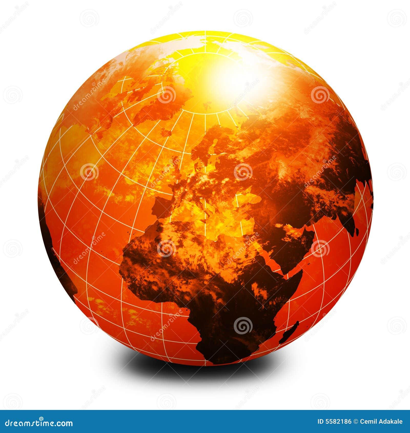 Orange World Globe Royalty Free Stock Image - Image: 5582186