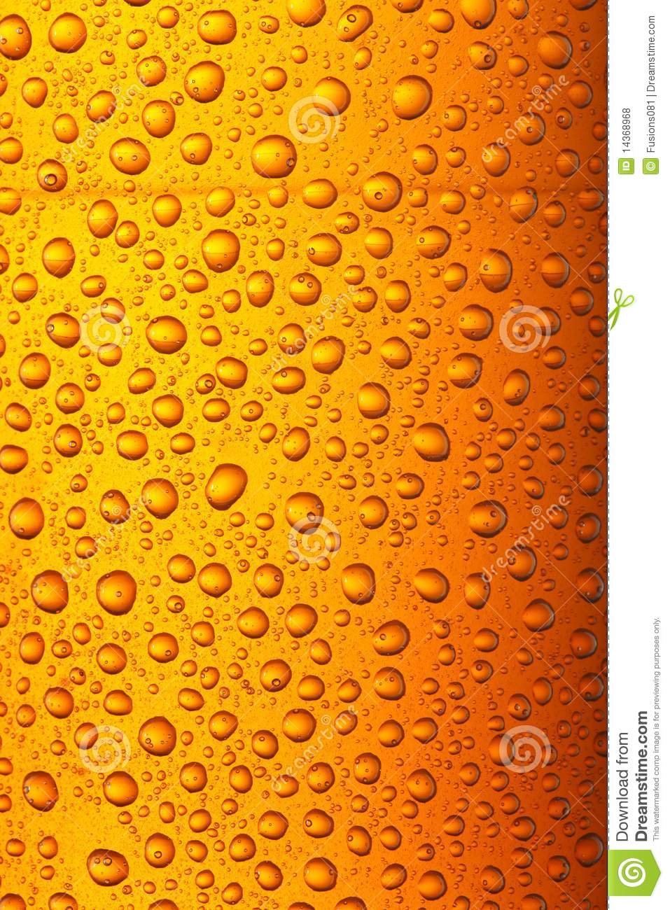 Orange Yellow Beer Droplets Royalty Free Stock Photos