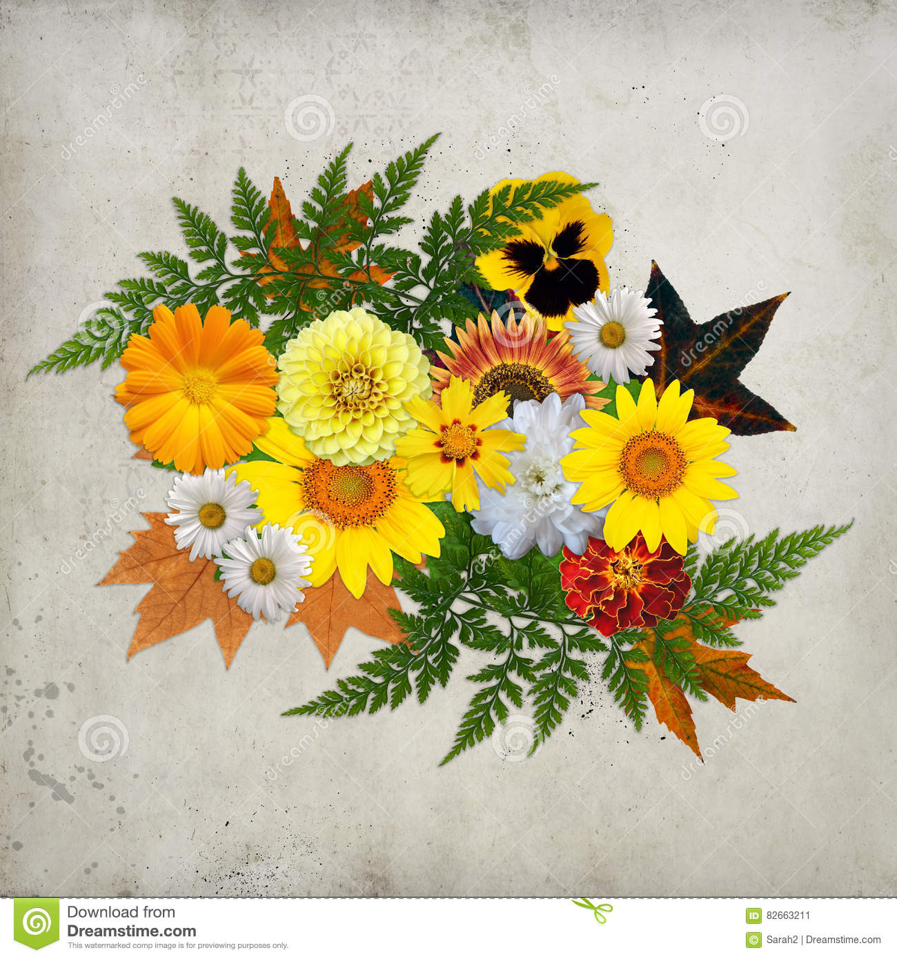 Orange Yellow Floral Background Real Flowers Stock Image Image Of Yellow Flowers 82663211