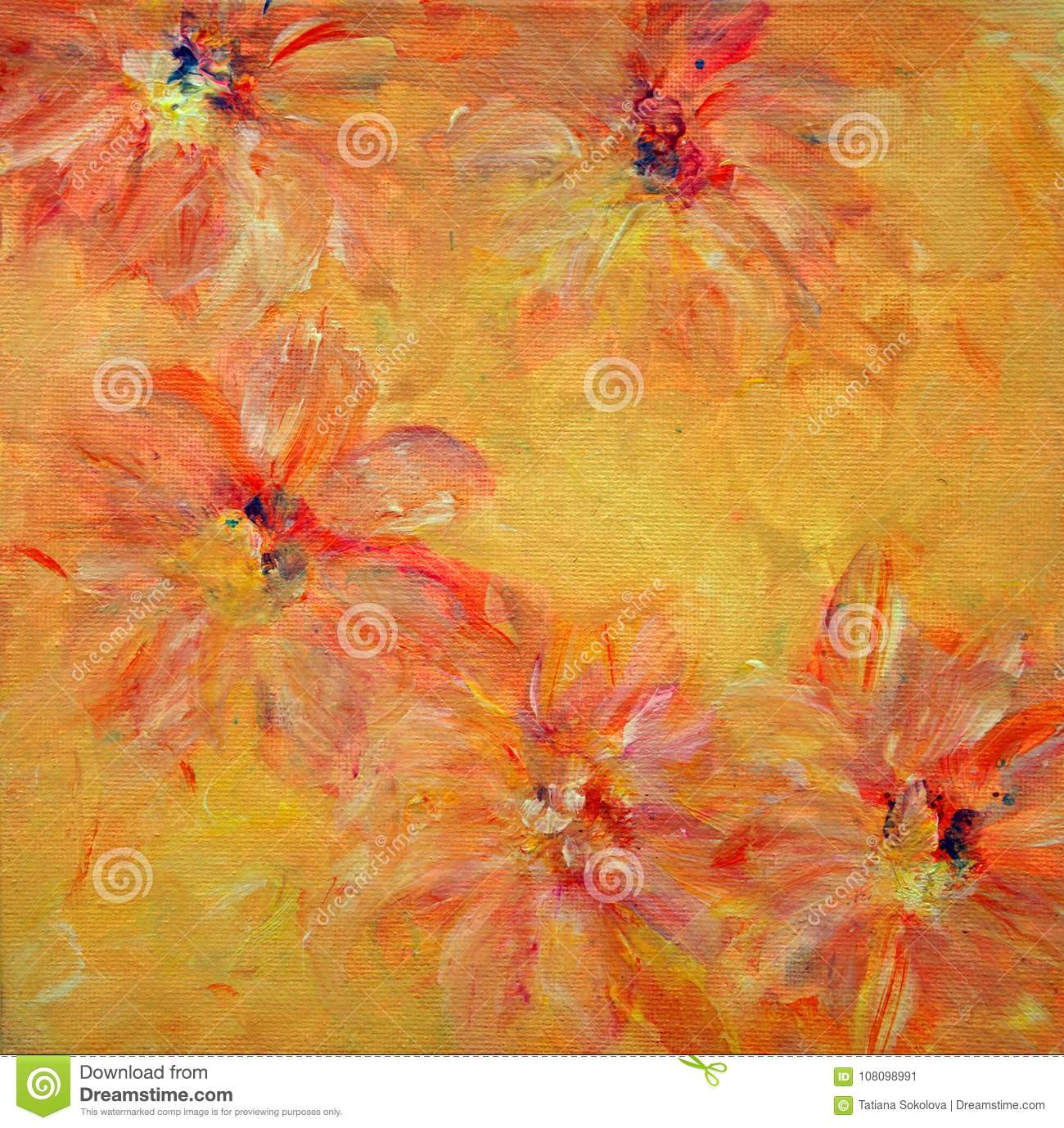 Orange and yellow flowers stock vector illustration of wallpaper download orange and yellow flowers stock vector illustration of wallpaper 108098991 mightylinksfo