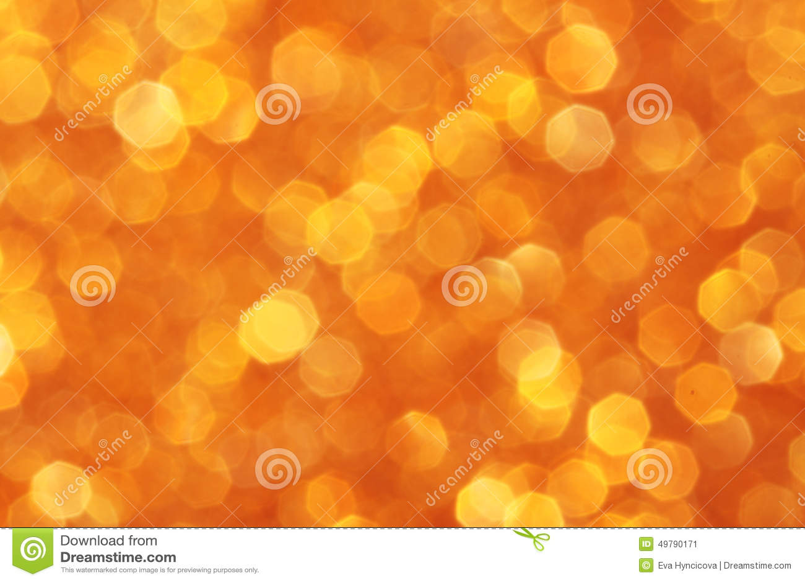 Orange Yellow Gold Sparkle Background Stock Image