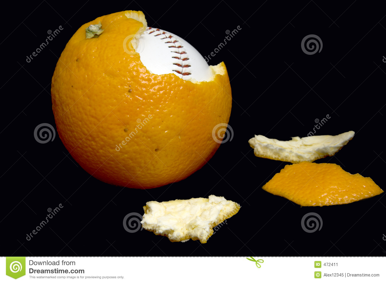 Download Orangeballo stock image. Image of macro, hardball, game - 472411
