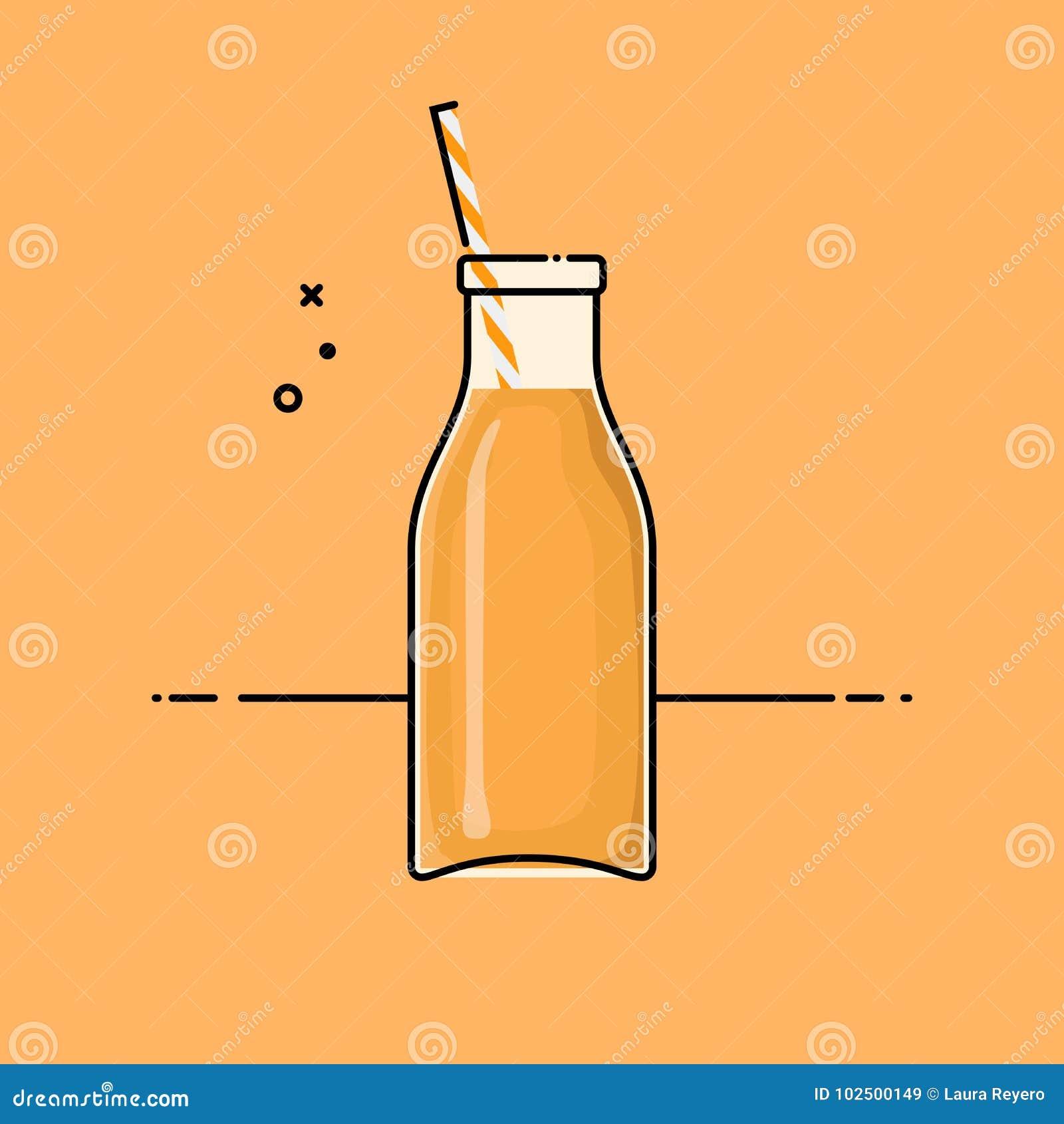 Orangensaft in der Glasflasche