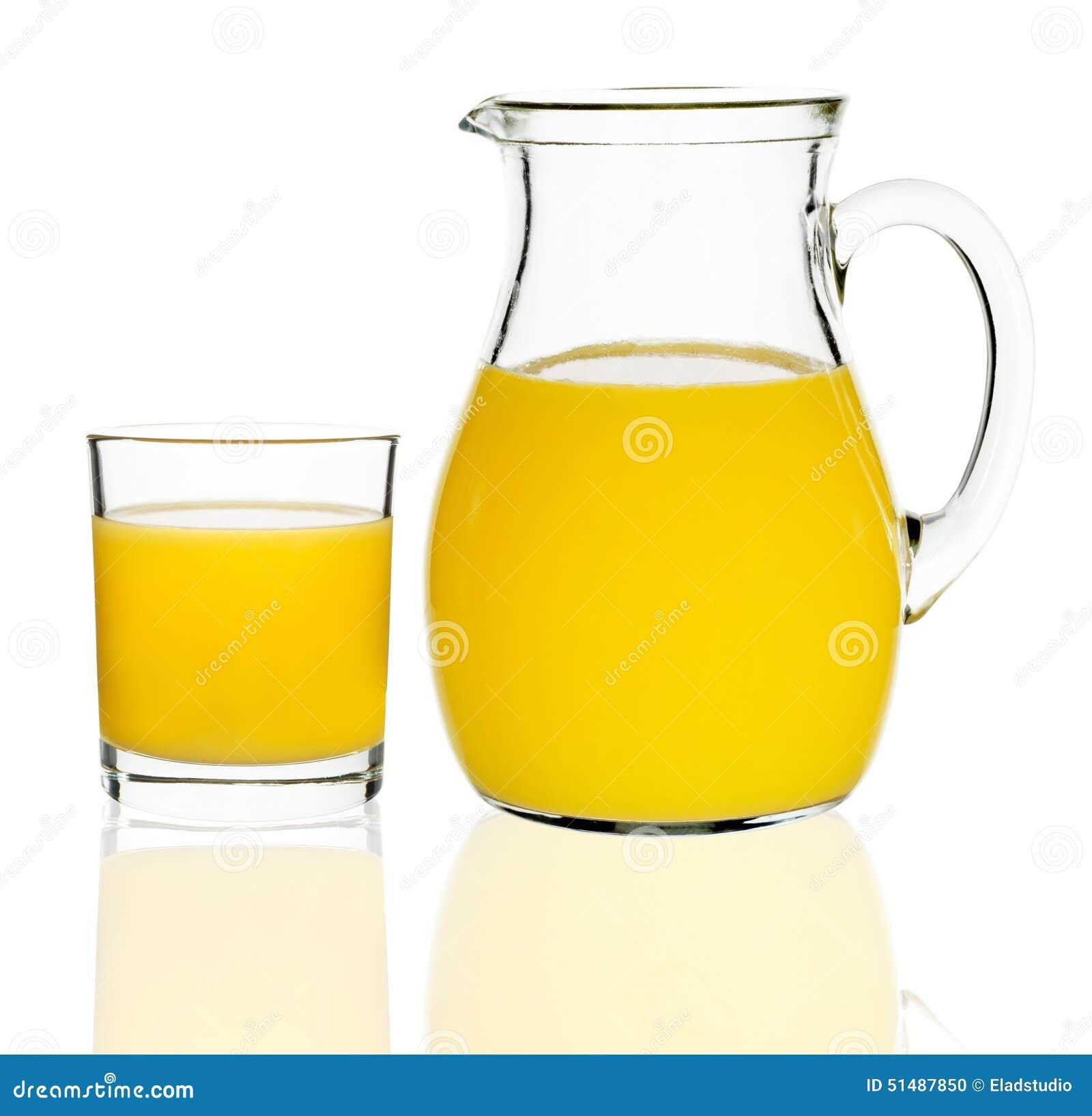 orangensaft in einem glas und in einer karaffe stockfoto. Black Bedroom Furniture Sets. Home Design Ideas