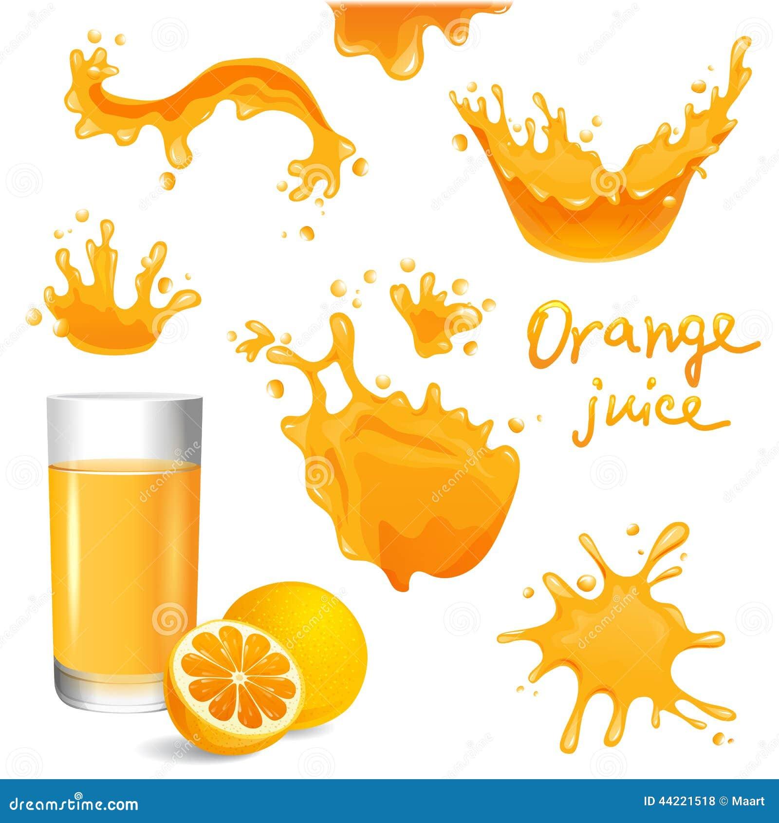 Orangensaft spritzt