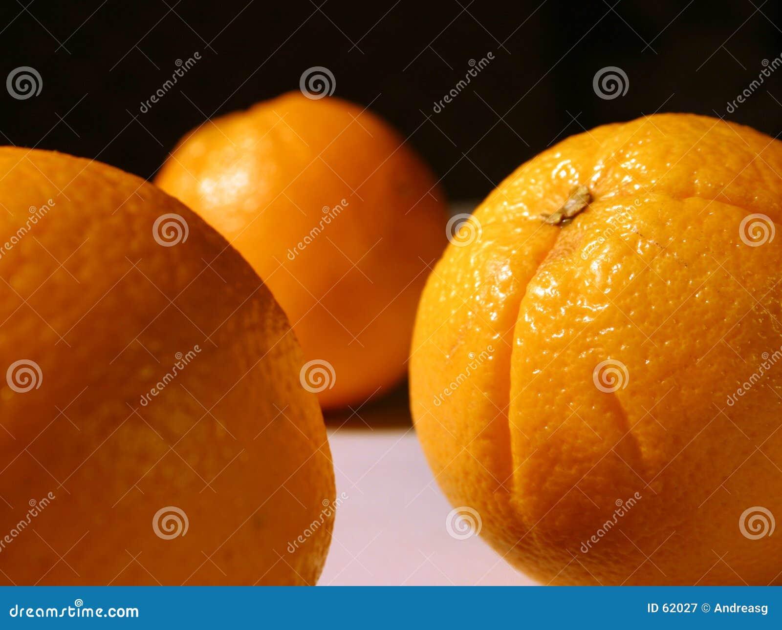 Between oranges