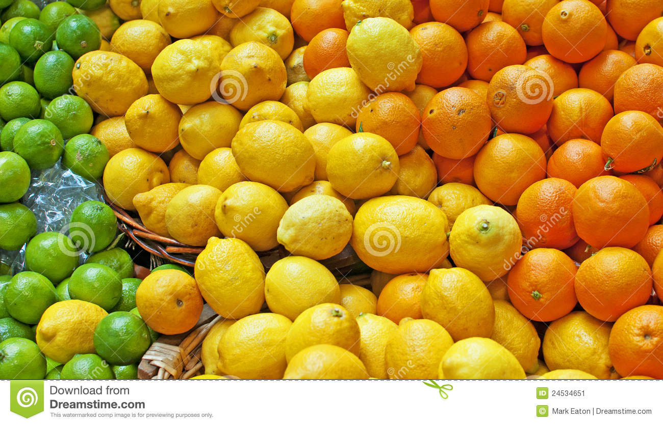 Oranges, Lemons & Limes stock image. Image of freshness ...