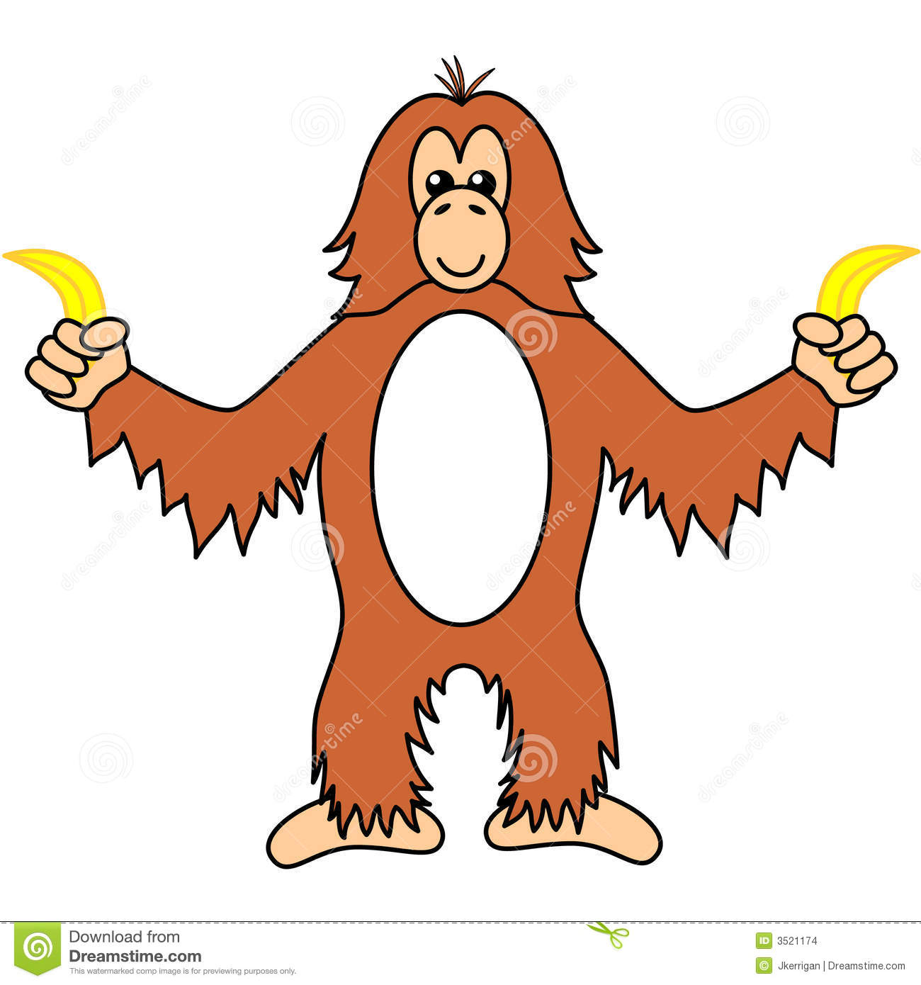 orangutan stock vector image of orangutan  primate  furry ape clip art of ape ape clip art of ape