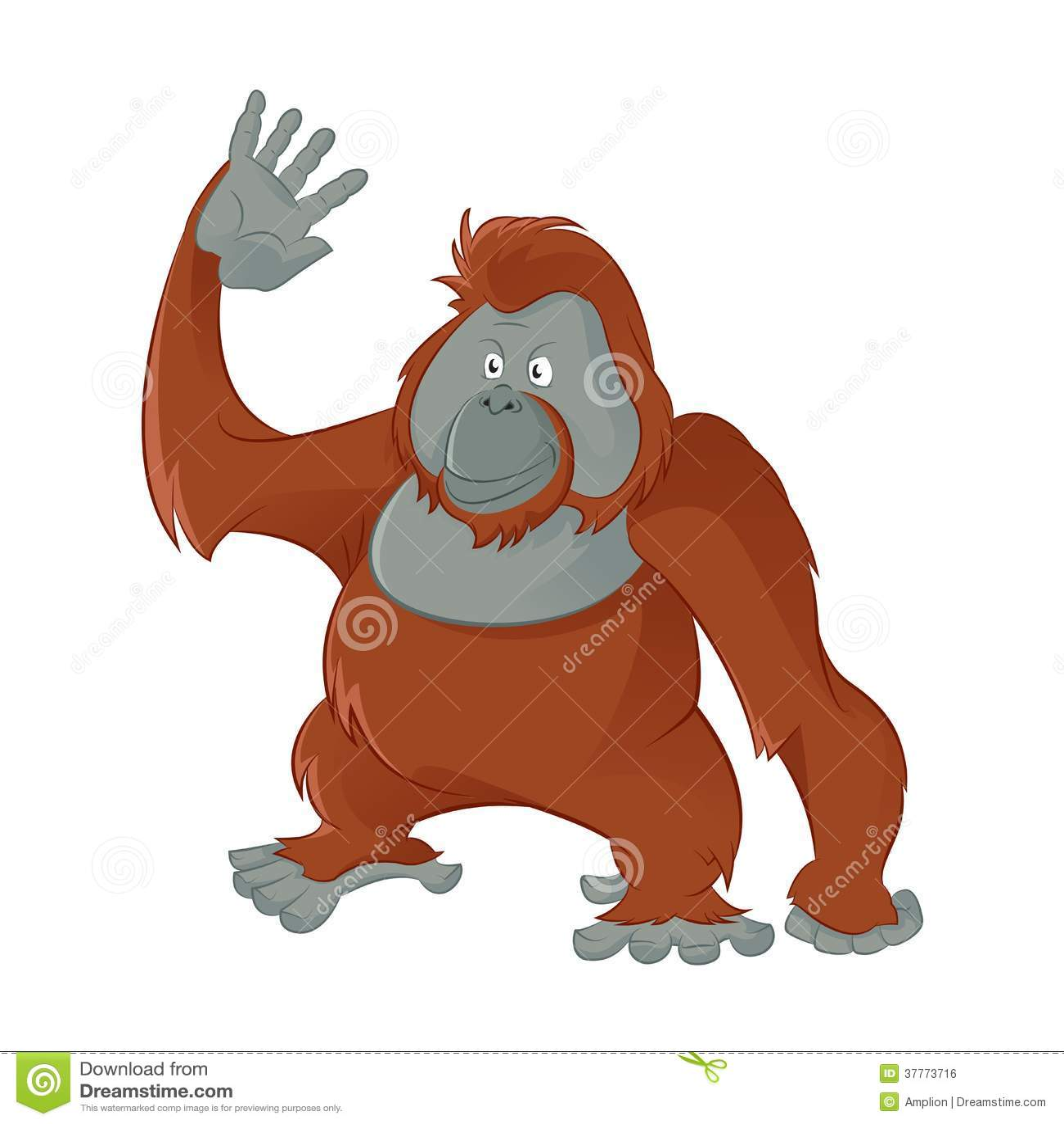 how to draw a baby orangutan