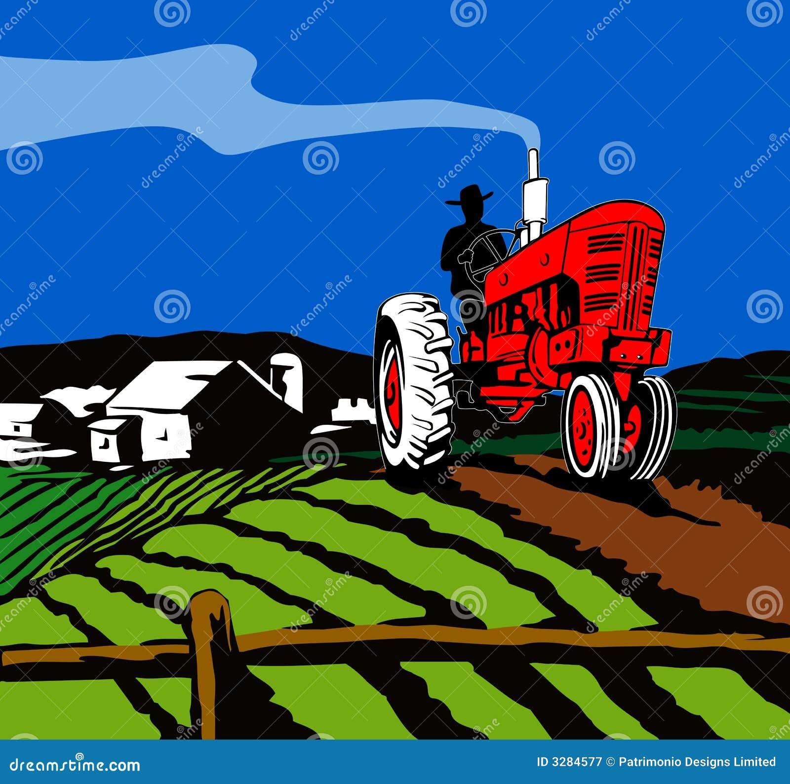 Oranie ciągnik rolniczy