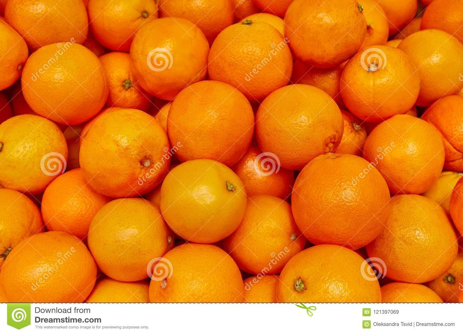 Oranje achtergrond, Oranje opbrengst bij markt