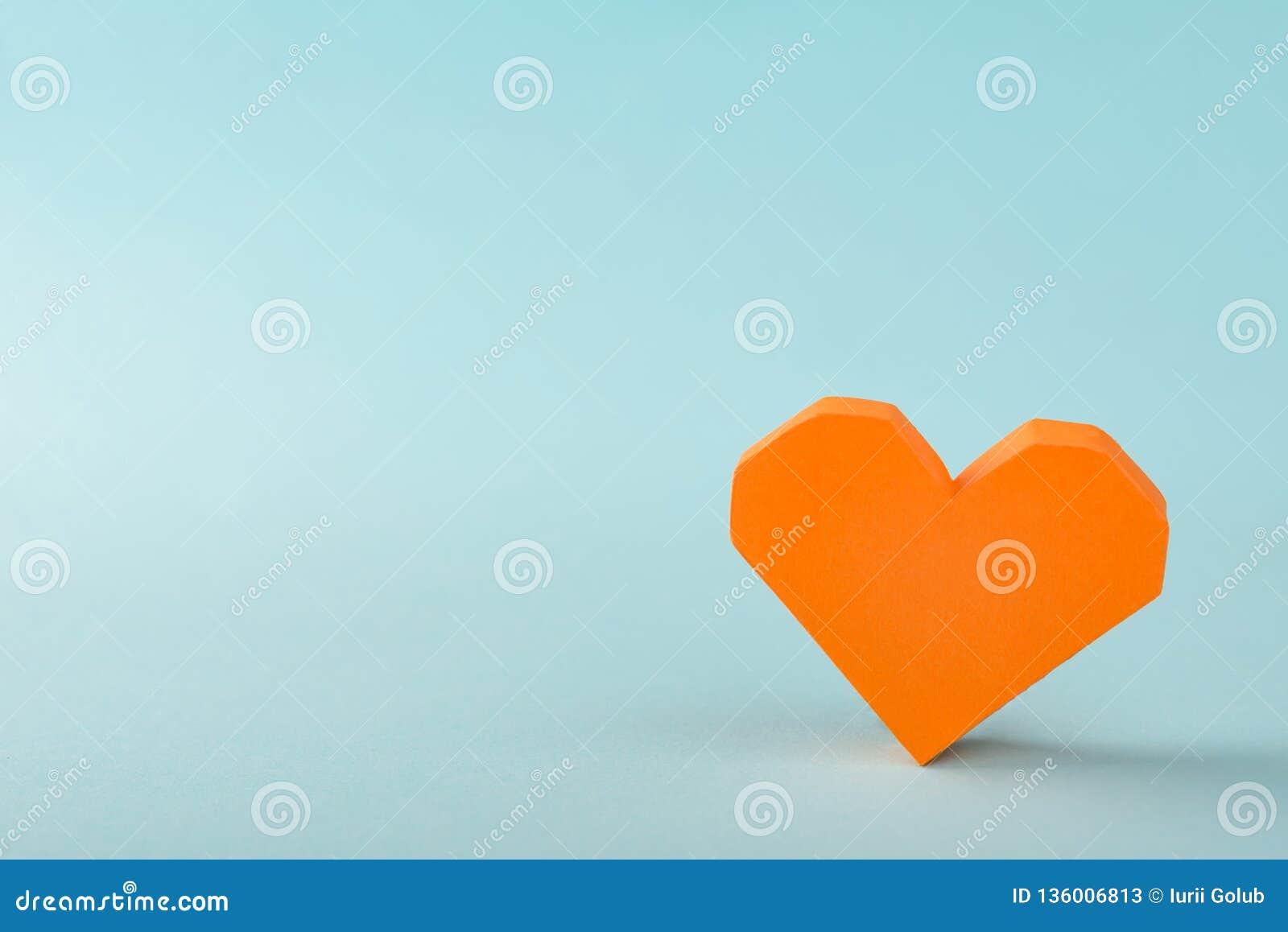 Oranje 3D document hart