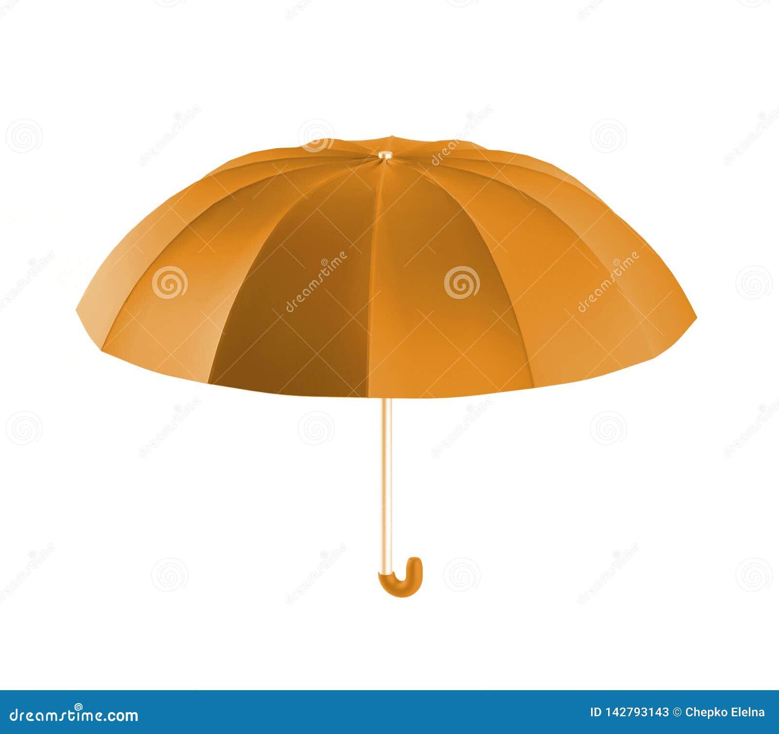 Oranje de paraplu, 3d geeft terug