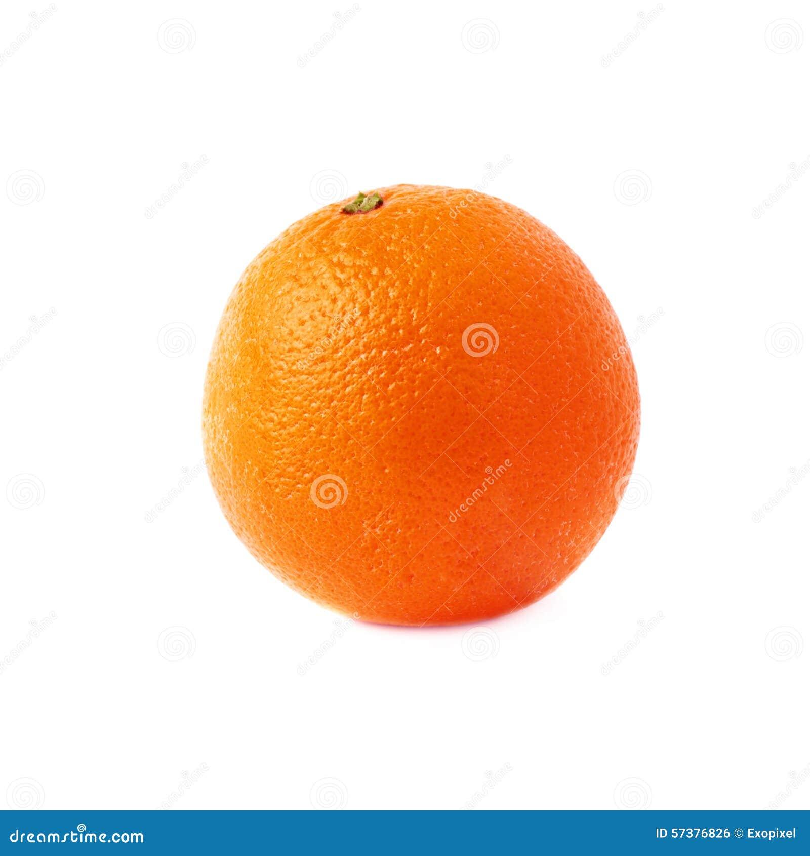 Oranje die fruit over de witte achtergrond wordt geïsoleerd
