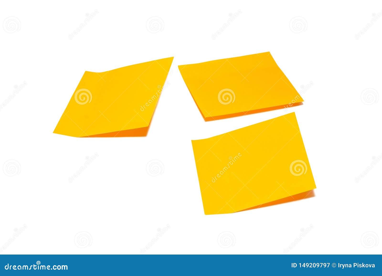 Oranje die stoknota op witte achtergrond wordt ge?soleerd