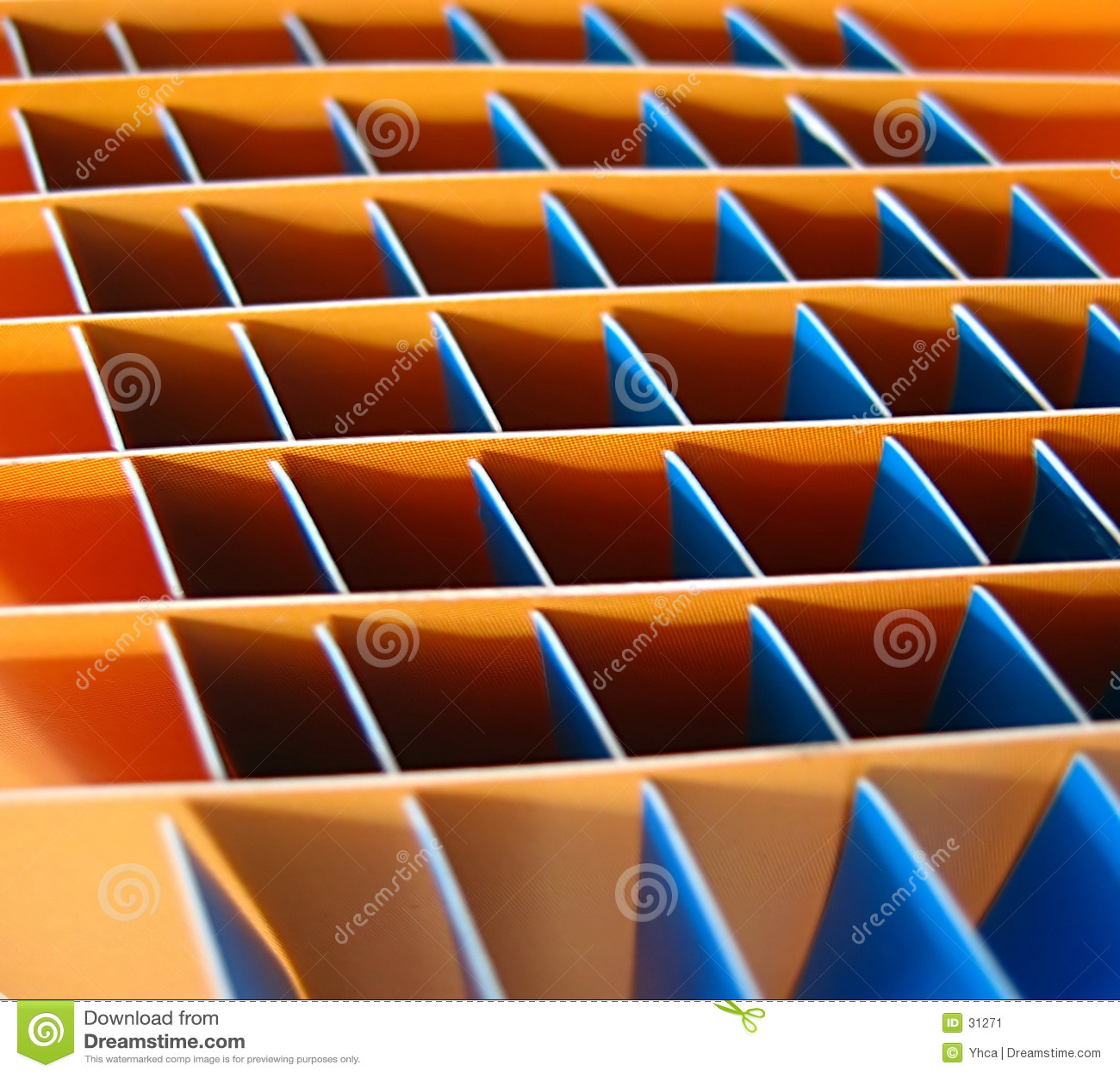 Oranje en blauwe vierkanten