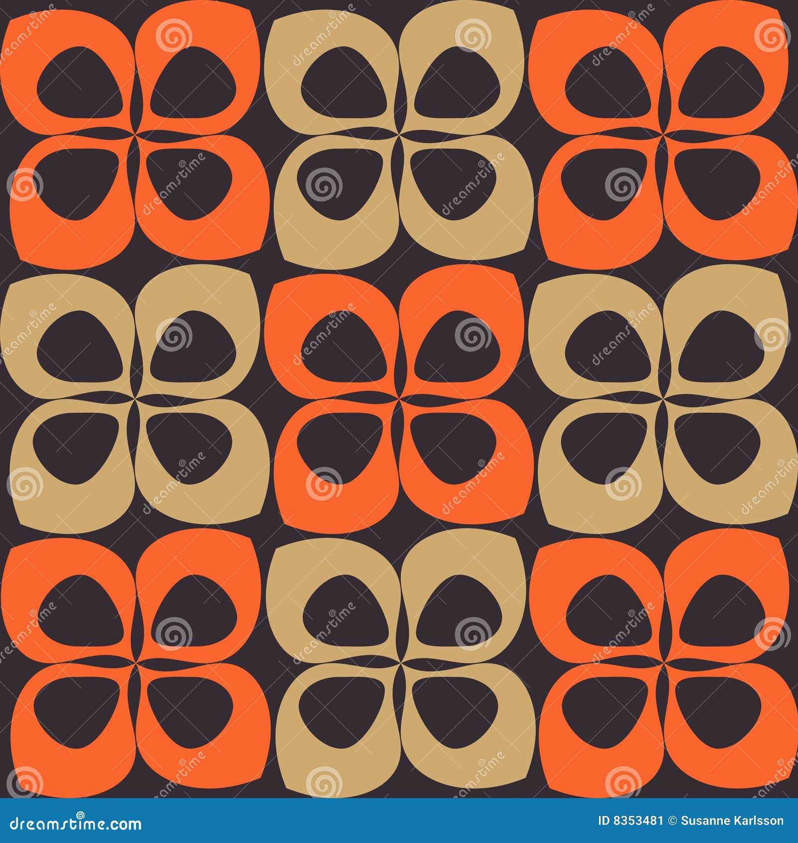 Oranje En Bruin Retro Patroon Stock Afbeelding   Afbeelding  835