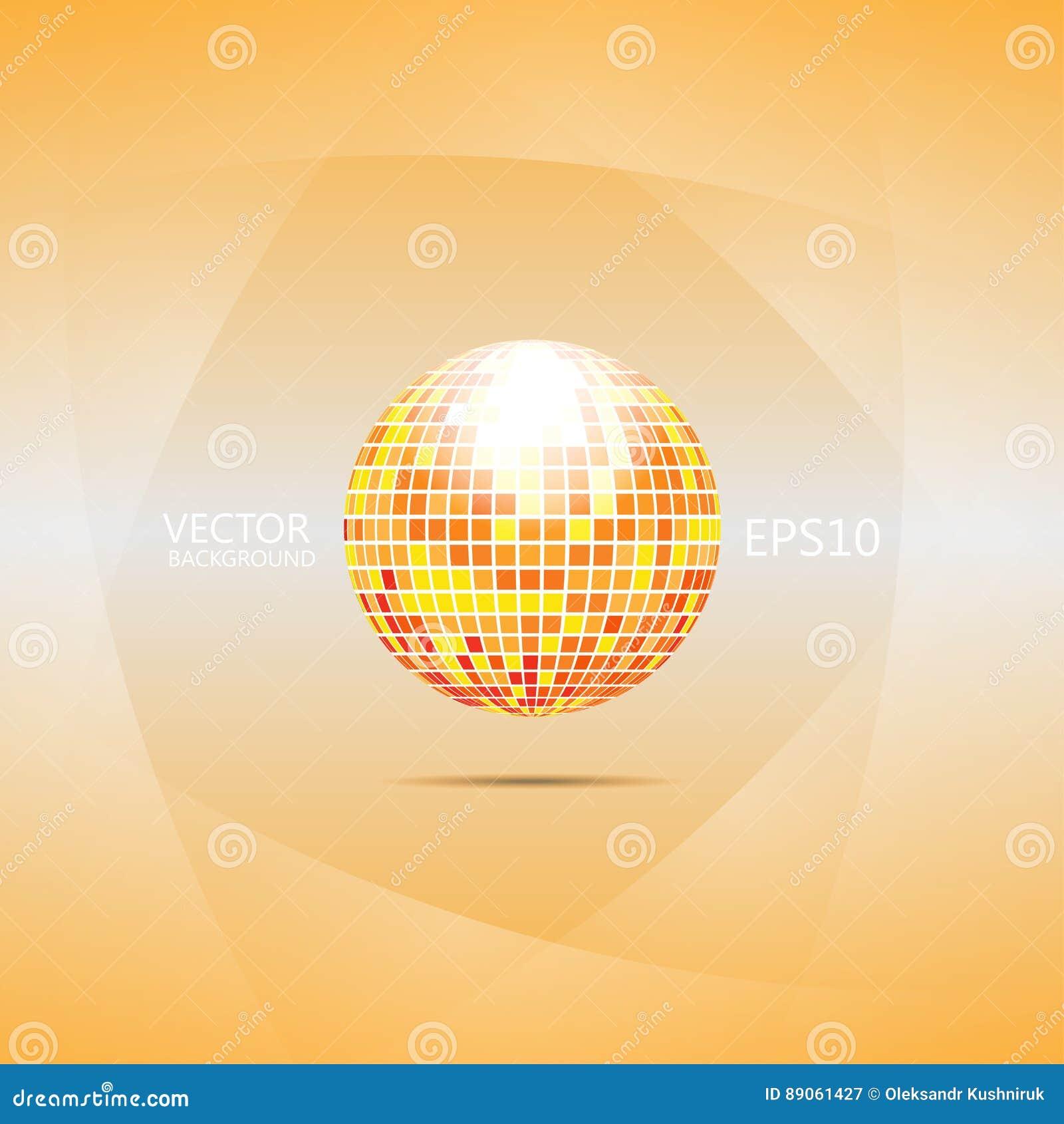 Oranje en rode discobal