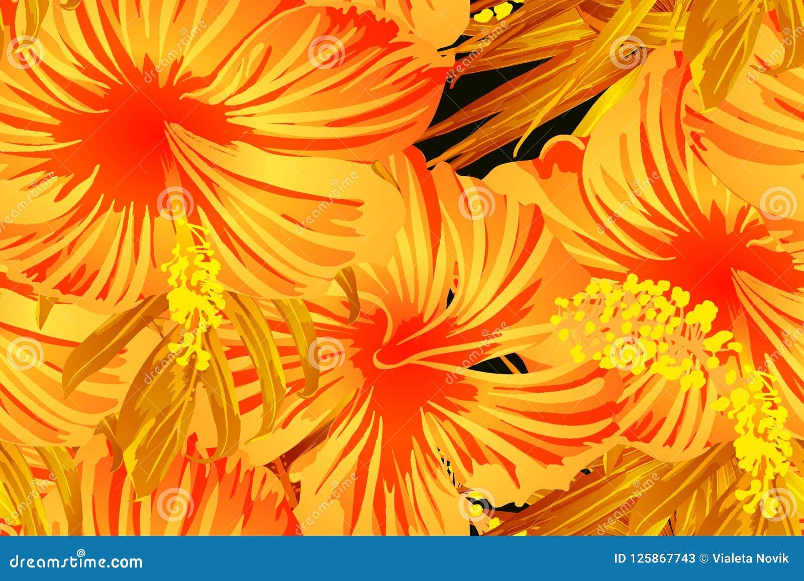 Oranje exotisch patroon