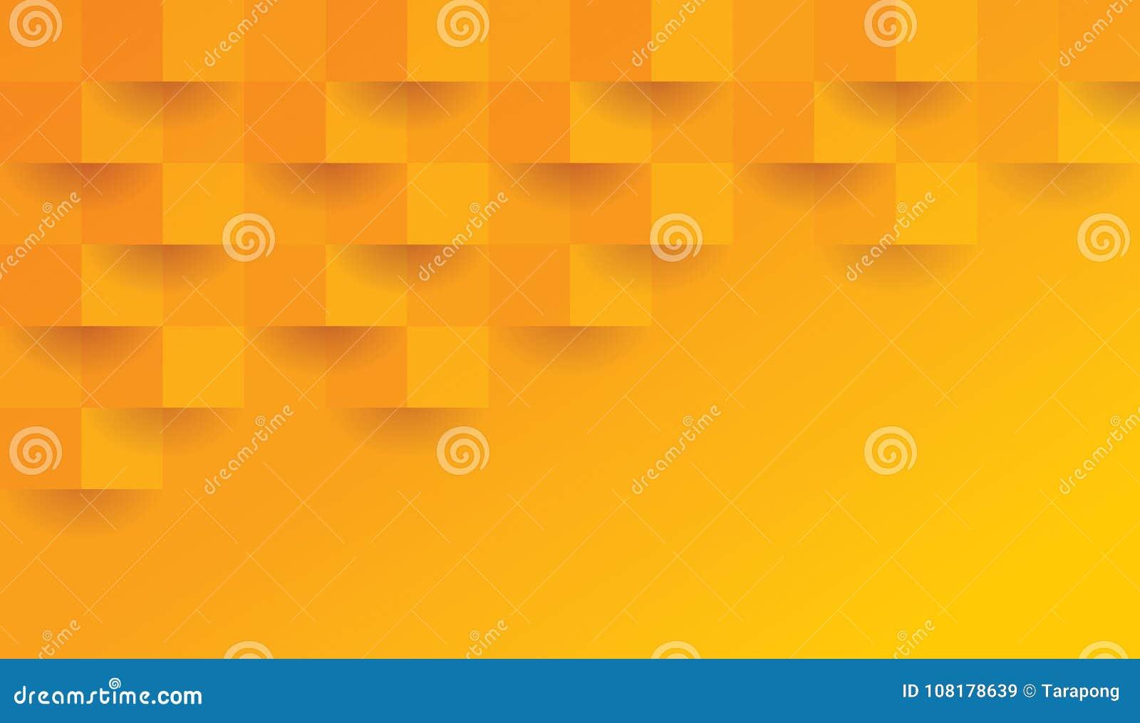Oranje geometrisch patroon, abstract malplaatje als achtergrond