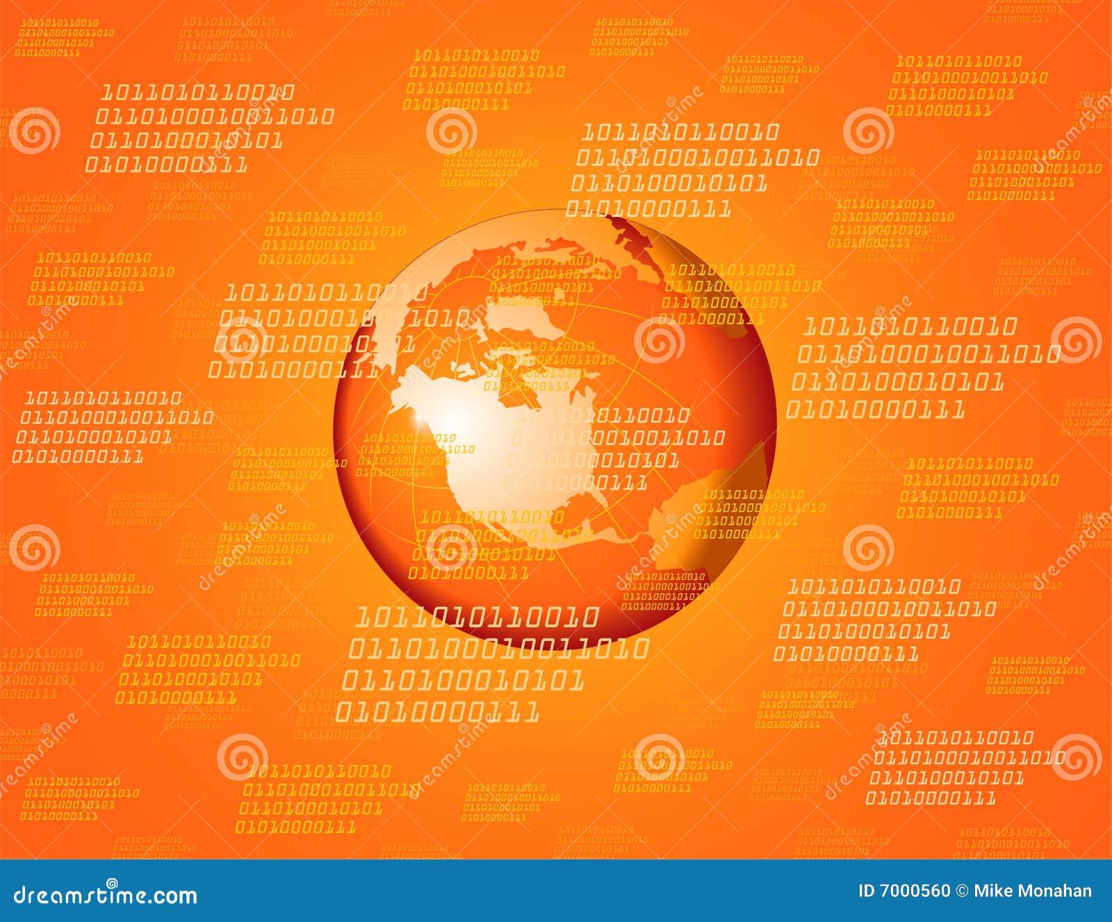 Oranje globale achtergrond