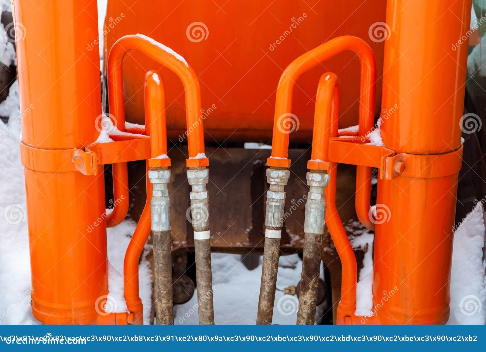 Oranje hydraulisch aandrijvingssysteem
