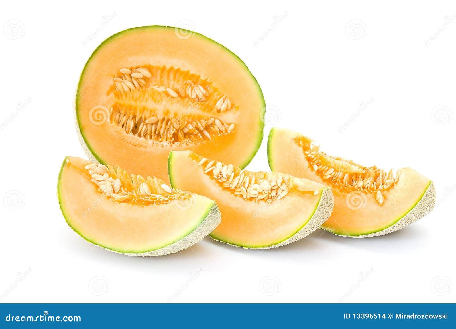 Oranje kantaloepmeloen