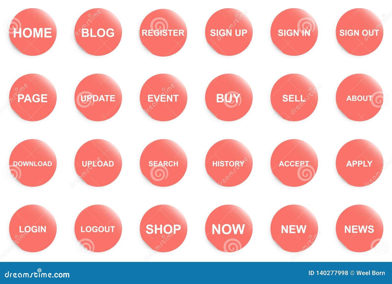 Oranje knoop voor website of app