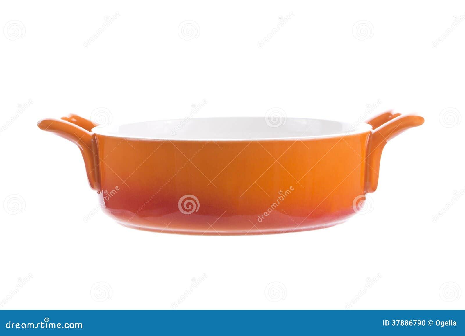 Oranje lege kom