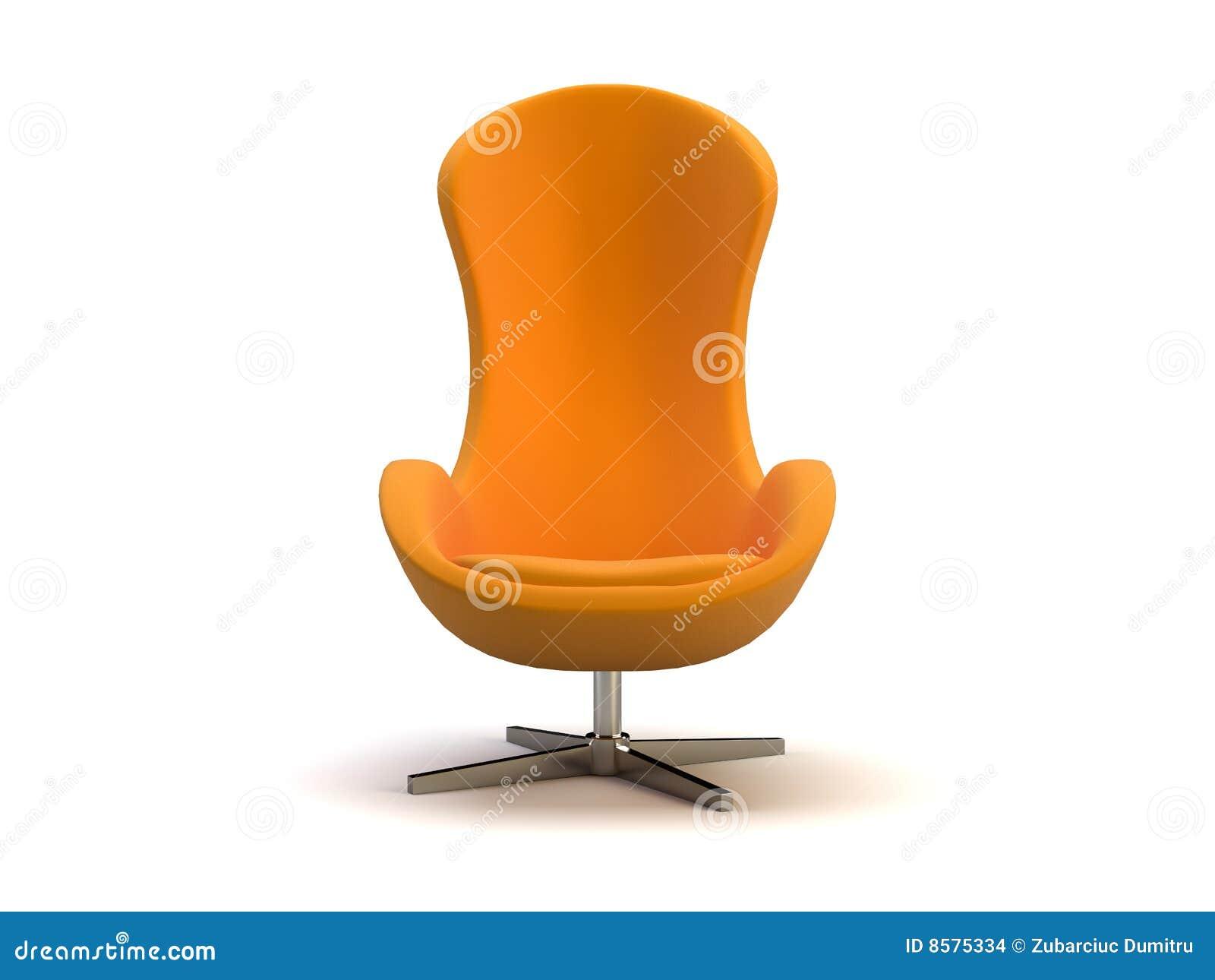 Oranje moderne stoel stock afbeeldingen afbeelding 8575334 - Moderne stoel ...