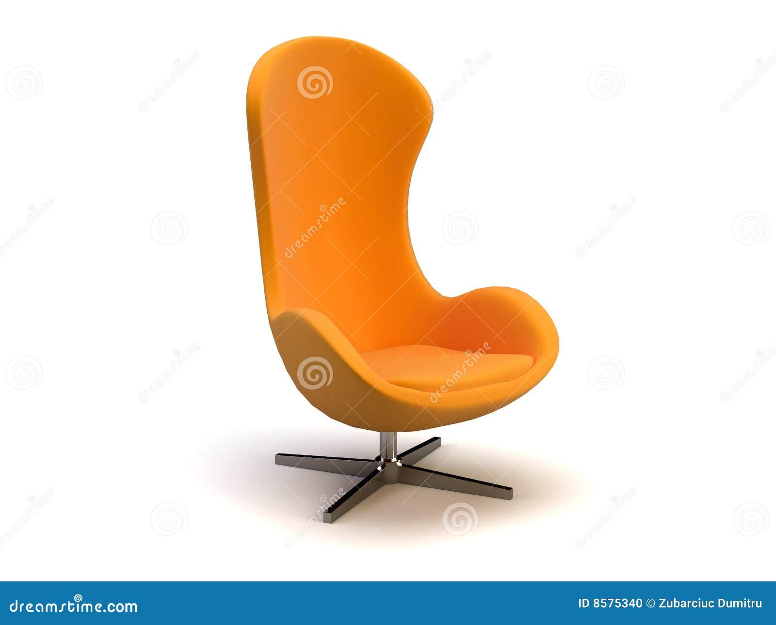 Oranje moderne stoel stock foto afbeelding 8575340 - Moderne stoel ...